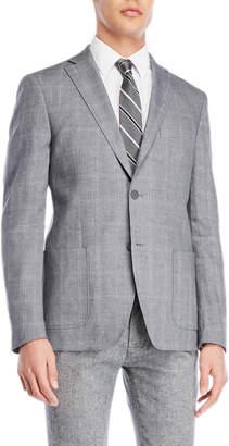 DKNY Grey Windowpane Sport Coat