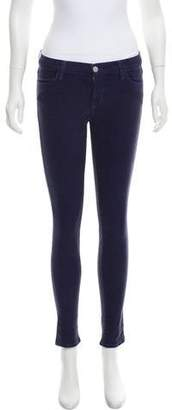J Brand Coated Mid-Rise Jeans