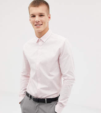 Asos Design DESIGN Tall skinny shirt with collar detail