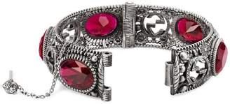 Gucci Silver bracelet with Interlocking G motif