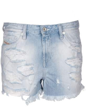 Diesel Fringed Denim Shorts