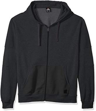 Southpole Men's Big and Tall Bt Long Sleeve Fleece Hooded Fullzip with Moto Details
