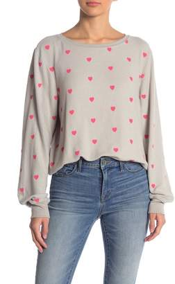 Wildfox Couture Essential Hearts Graphic Pullover