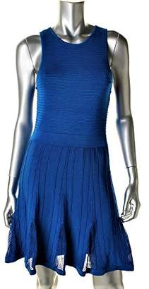 Trina Turk Women's Fairfield Plaited Ottoman Fit and Flare Knit Dress