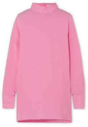 Valentino Silk-georgette Blouse - Pink