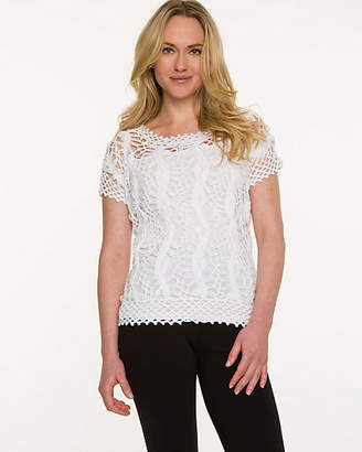 Le Château Crochet Scoop Neck Sweater
