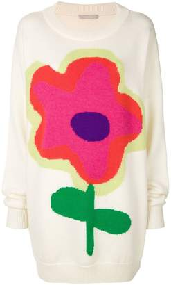 Christopher Kane cartoon flower knit jumper