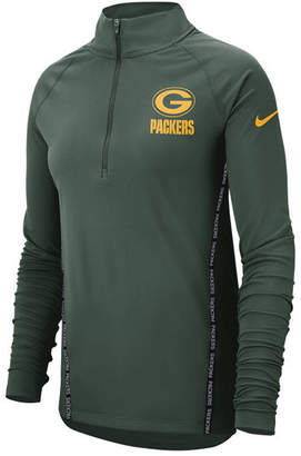 Nike Women's Green Bay Packers Element Core Quarter-Zip Pullover