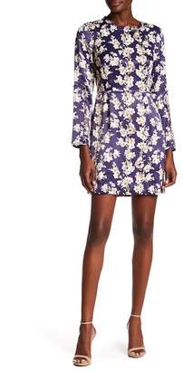 Club Monaco Kaveh Floral Print Ruffle Trim Dress