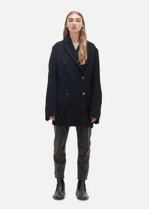 Ann Demeulemeester Mulligan Double Breasted Coat Black + Banfield Black