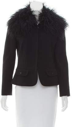 Dolce & Gabbana Shearling-Trimmed Wool Jacket