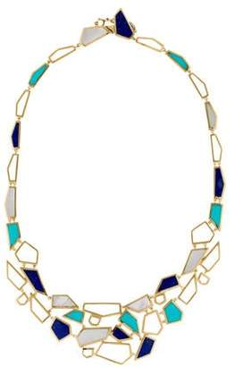 Ippolita 18K Mother of Pearl, Lapis & Turquoise Bib Necklace