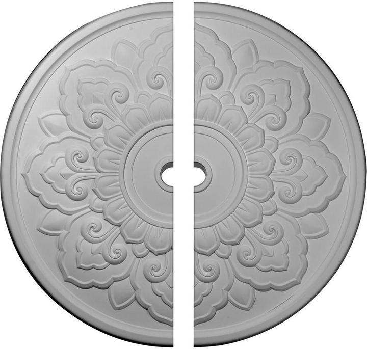 Ekena Millwork 50-1/8 in. O.D. x 3-5/8 in. I.D. x 1-3/4 in. P Lorry Ceiling Medallion (2-Piece)
