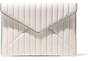 Rebecca Minkoff Leo Zip-embellished Quilted Leather Envelope Clutch