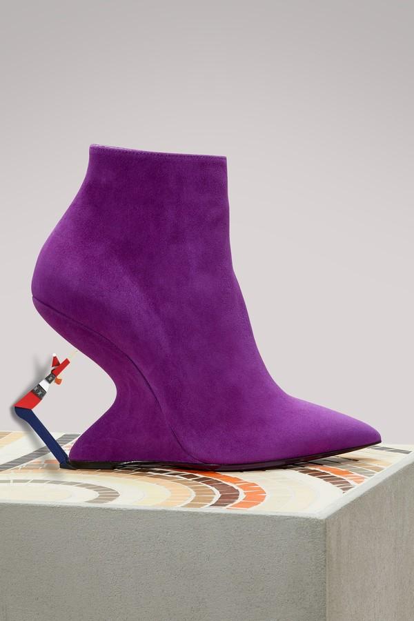 Salvatore Ferragamo Bolgheri leather ankle boots