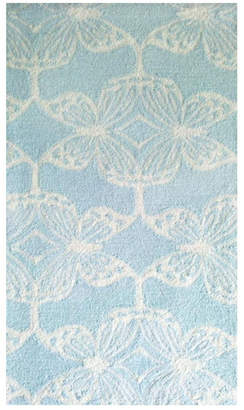 The Rug Market Butterfly Lattice Hand-Made Polyester Contemporary Rug