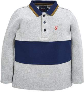 Farah Interlock Long Sleeve Polo Shirt