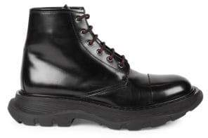 Alexander McQueen Patent Leather Combat Boots