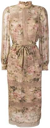 Zimmermann Pintuck long-sleeved dress