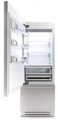 Bertazzoni 14 cu. ft. Counter Depth Bottom Freezer Refrigerator Door Swing Orientation: Left