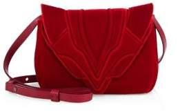 Elena Ghisellini Felix Small Velvet Crossbody Bag