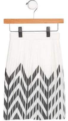 Little Remix Girls' Pleated Chevron Print Skirt w/ Tags