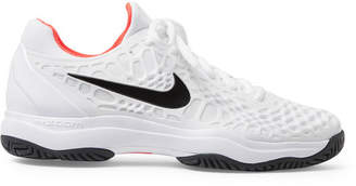 Nike Tennis - Air Zoom Cage 3 Rubber And Mesh Tennis Sneakers - Men - White