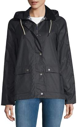 Barbour Women's Rief Waxed Cotton Hooded Jacket