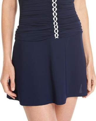 Profile by Gottex Harbor Island Coverup Skirt, Blue $78 thestylecure.com