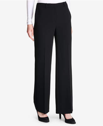 DKNY Crepe Wide-Leg Pants, Created for Macy's
