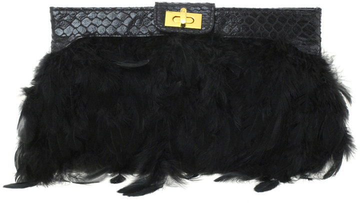 Asos Feather Clutch Bag