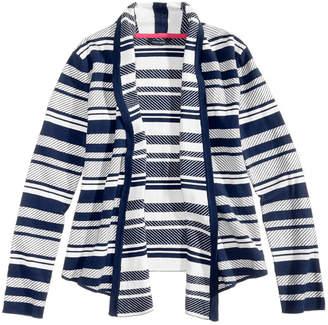 Tommy Hilfiger Striped Jacquard Cotton Cardigan, Big Girls