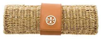 Tory Burch Metallic Straw Clutch