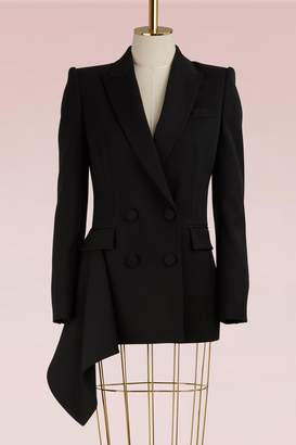 Alexander McQueen Double-Breasted Wool Jacket