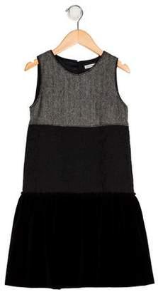 Dolce & Gabbana Girls' Velvet-Accented Jacquard Dress