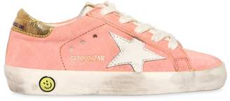 Golden Goose Super Star Metallic Heel Suede Sneakers