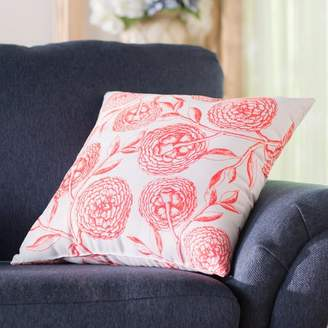 Laurèl Foundry Modern Farmhouse Jud Blooms Antique Flower Throw Pillow