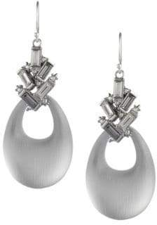 Alexis Bittar Crystal Baguette Cluster Drop Earrings
