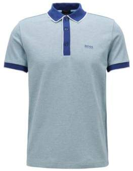 BOSS Hugo Regular-fit polo shirt in three-colored cotton pique L Dark Blue
