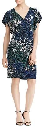 Lauren Ralph Lauren Flutter-Sleeve Floral-Print Dress