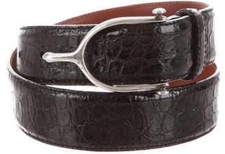 Polo Ralph Lauren Embossed Buckle Belt