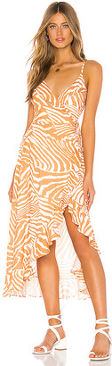 MinkPink Pretty Wild Maxi Wrap Dress