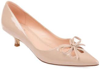 Journee Collection Womens Jc Lutana Slip-on Pointed Toe Kitten Heel Pumps