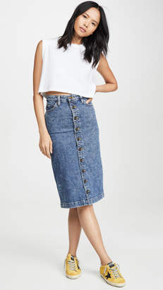 Lee Vintage Modern High Rise Midi Skirt