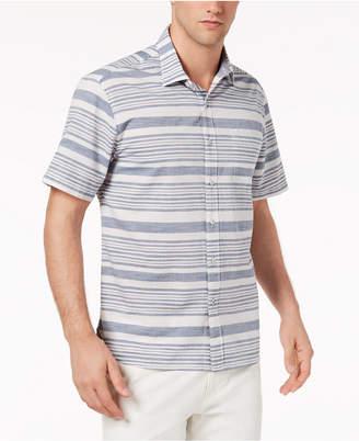 Tommy Bahama Men's Raya Space-Dyed Stripe Camp Shirt