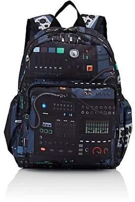 Molo Kids Kids' Big Music-Mixer-Print Canvas Backpack