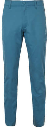Under Armour Showdown Slim-Fit Cotton-Blend Golf Trousers - Blue
