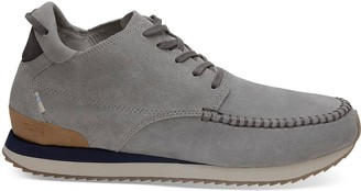 Water Resistant Neutral Grey Suede Men's Balboa Mid Sneakers