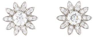 Tiffany & Co. Platinum Diamond Flower Earrings