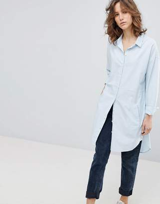 Selected Longline Striped Shirt
